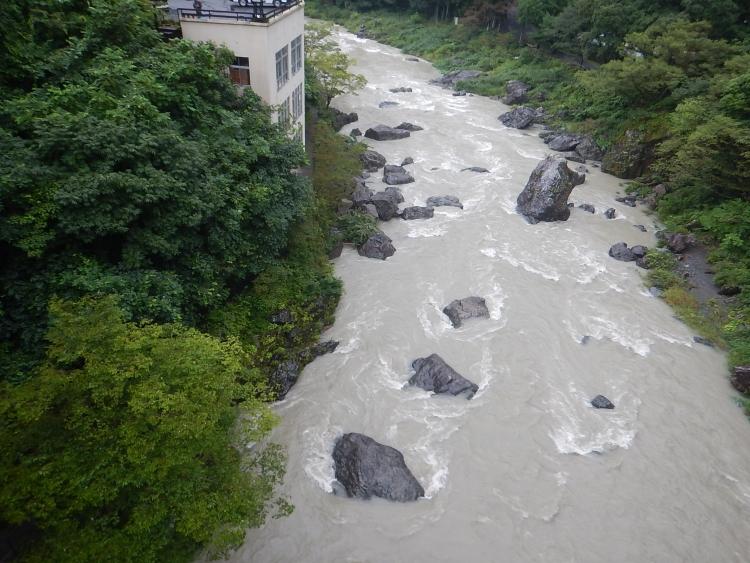 多摩川の水位情報(2017/8/8)