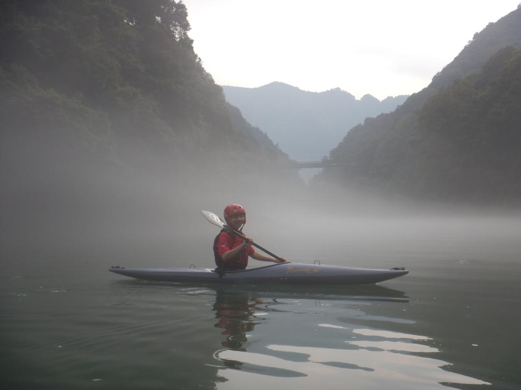 午後3時からの白丸湖カヤック体験