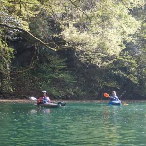 平日の白丸湖でカヤック体験