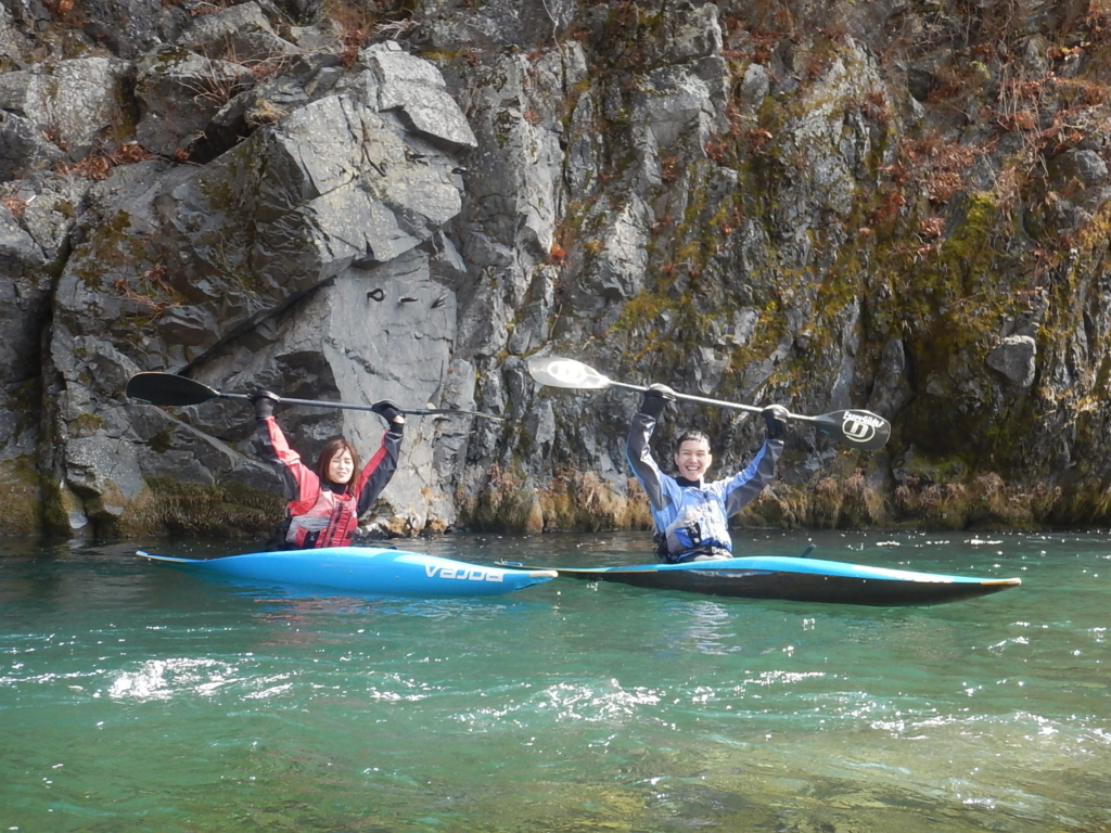今年初めての白丸湖カヤック体験